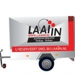 laaiin laadin trekker trekkar trailer oplegger trailers opleggers vervoeren verhuurnummerplaat breekkabel